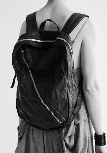 Julia Fom Leather Backpack - Black
