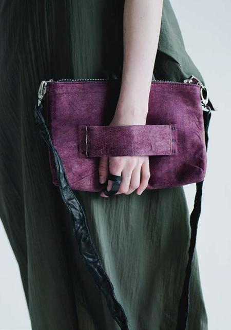 Julia Fom Leather Clutch - Maroon