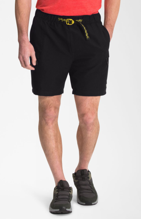 The North Face Class V Belted Short - TNF BLACK / CITRONELLE GREEN