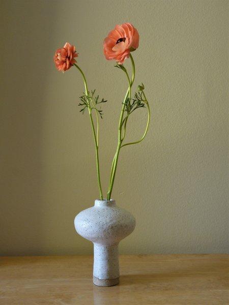 Ruby Bell Ceramics Glaze Vase - White
