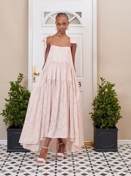 Sister Jane Isabella Tiered Maxi Dress - Champagne Blush