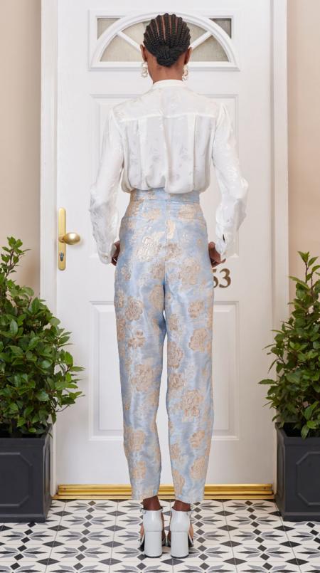 Sister Jane Emblem Floral Peg Trouser - Print