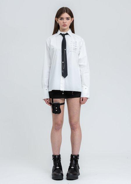 C2H4 Chain Set Necktie - Black