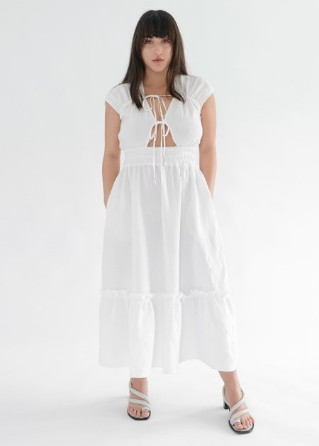 OhSevenDays WINONA DRESS - WHITE