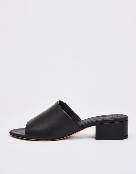 nine to five maia mules slides - black