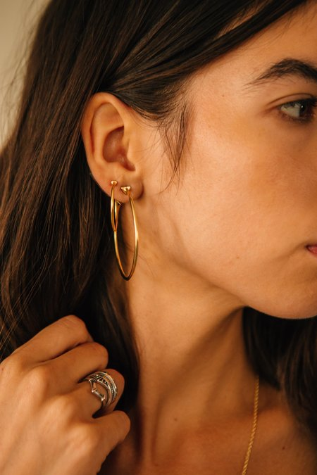 Sierra Winter Jewelry 9 A.M. Hoop Earrings - Gold Vermeil