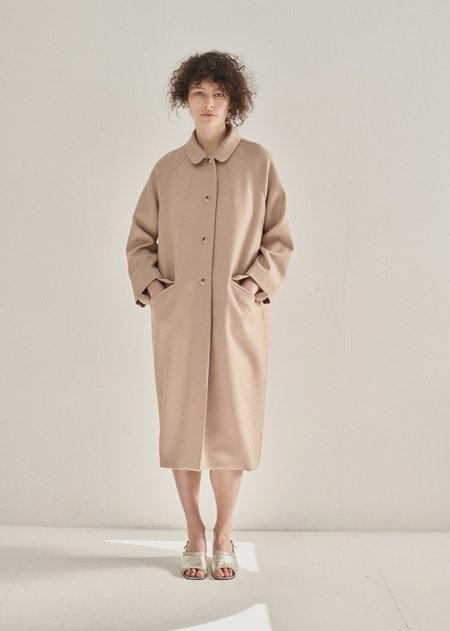 Caramel Raglan Coat - Camel