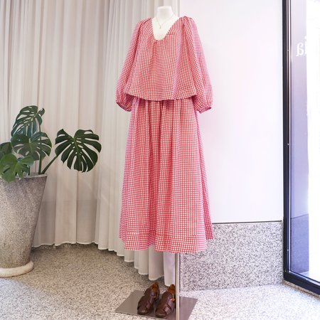 BERNADETTE George Linen Skirt - Red Gingham