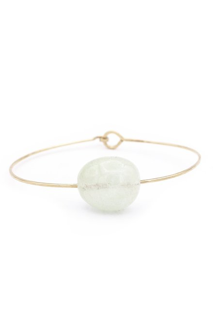 Mary MacGill Small Stone Cuff - Aquamarine