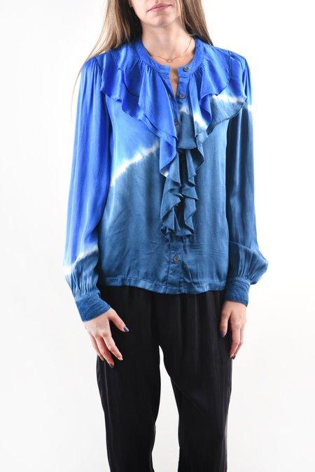 Raquel Allegra Victorian Ruffle Shirt - Sky