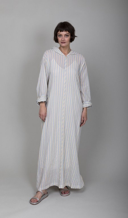 Pietsie Djelba Caftan - Cream/Blue Bold Stripe