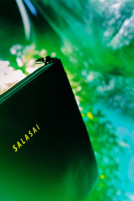 SALASAI SANCTUARY CLUTCH - GREEN LEATHER