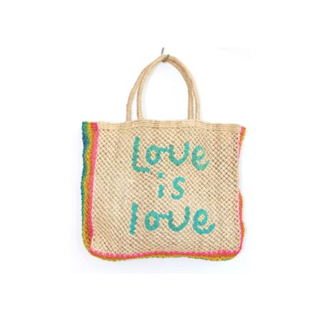 The Jacksons Love Is Love Beach Bag - Natural/Rainbow