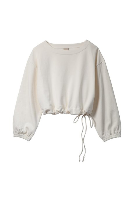 Soft Focus The Scrunch Sweatshirt - Ivory