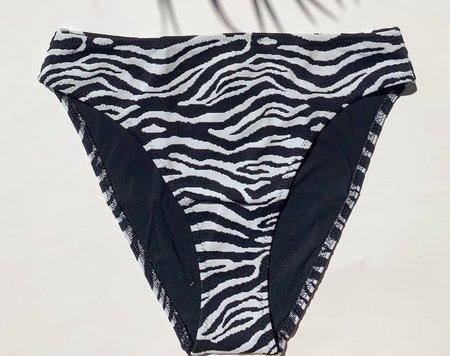 Solid and Striped Brody Bikini Bottom - Zebra