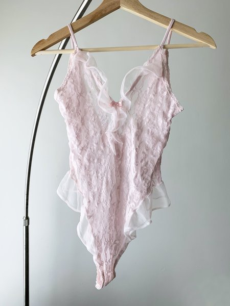 Vintage Lace Teddy - Ballet Pink