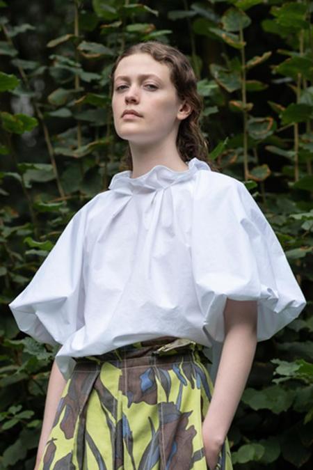 Odeeh pouf sleeve blouse - white