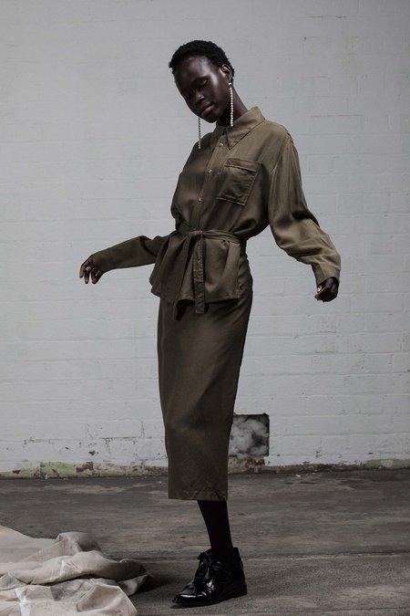SALASAI BETROTHED WRAP DRESS - KHAKI