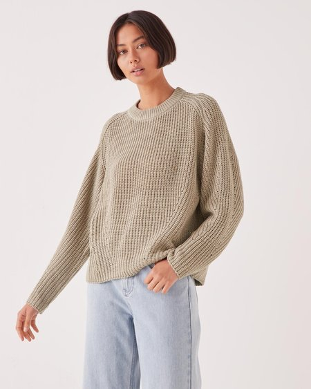 Assembly Label Dyan Knit sweater - Washed Khaki