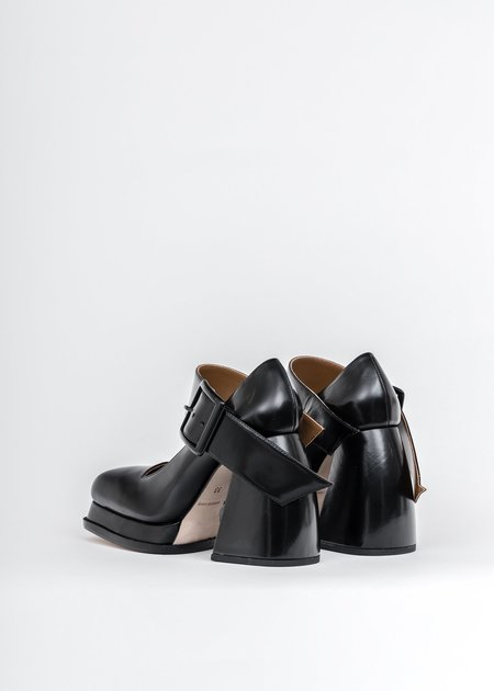 Shushu/Tong Belt Mary Jane Heels - Black
