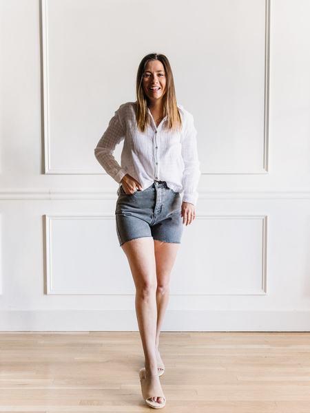 Mod Ref Denim Lennox Shorts - grey