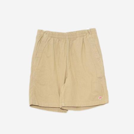 Danton Cotton and Linen Canvas Shorts - Beige