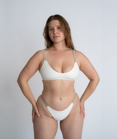 The Saltwater Collective Lucy Bottom - Ivory/Crepe
