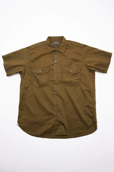 Beams Plus Short Sleeve Work Twill Shirt - Olive