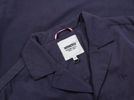 Wemoto Marthen Blended Cotton Blazer Jacket - Dark Navy