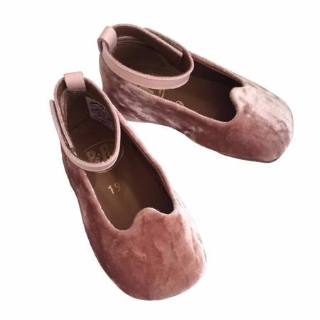 Kids pèpè velluto mary-janes - pink