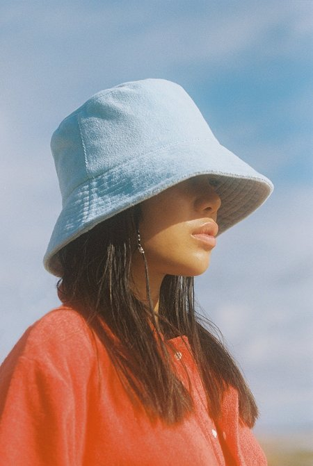 Lack of Color Wave Bucket Hat - Aqua Terry
