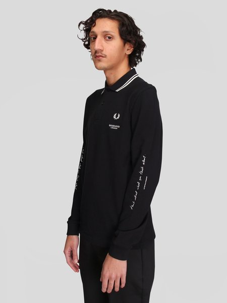 Goodhood x Fred Perry Printed LS Polo Shirt