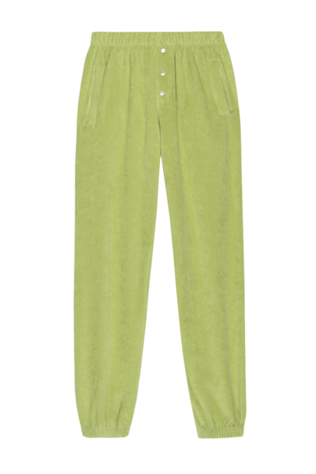 Donni. Terry Henley Sweatpant - Lime