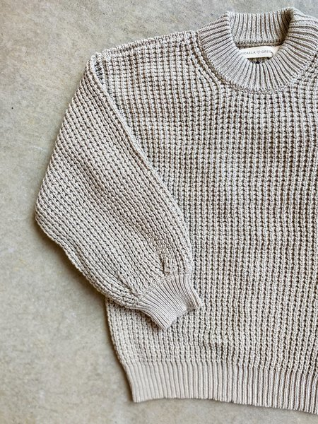 Micaela Greg Waffle Knit Sweater - Aloe