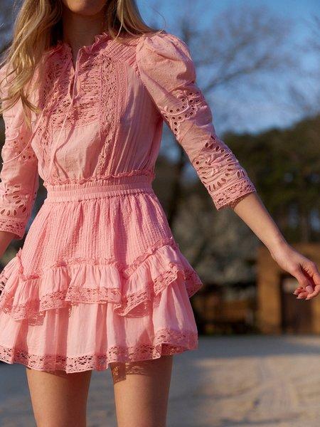 LoveShackFancy Isidore Dress - Pink Grace