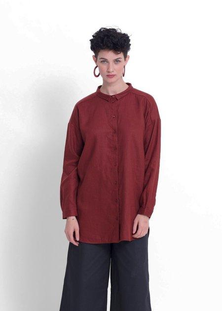 Elk Yenna Linen Shirt - Paprika