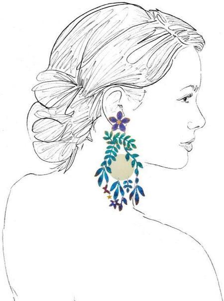 We Dream in Colour Moonflower Earrings - Blue