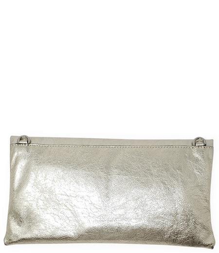 Gianni Chiarini Cherry Leather Foldover Clutch Bag - Gold