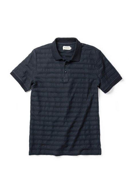 TAYLOR STITCH Jacquard Polo Shirt - Dark Navy