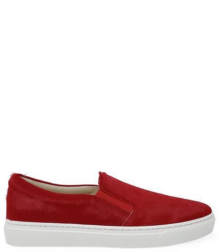 Madison Maison By Fashion Moda Pony Slip On Sneaker - Red