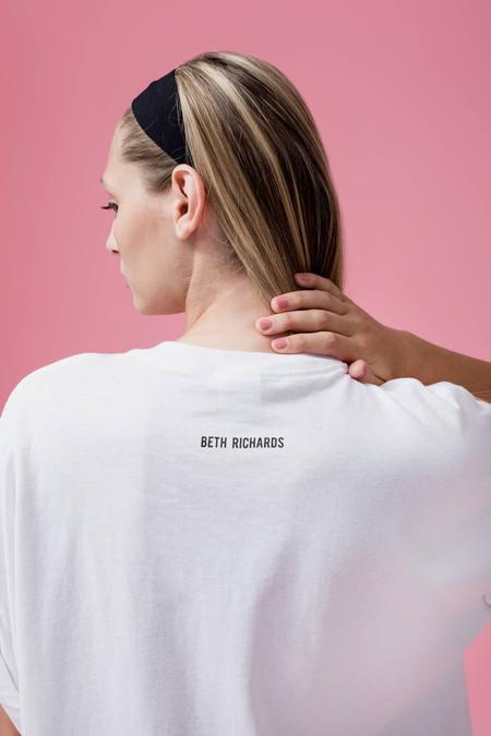 Beth Richards Censor Tee - White