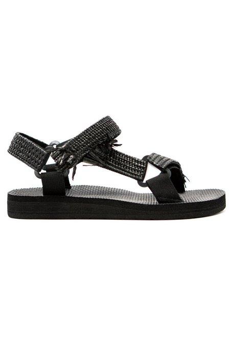 Arizona Love Trekky Rafia sandals - Black