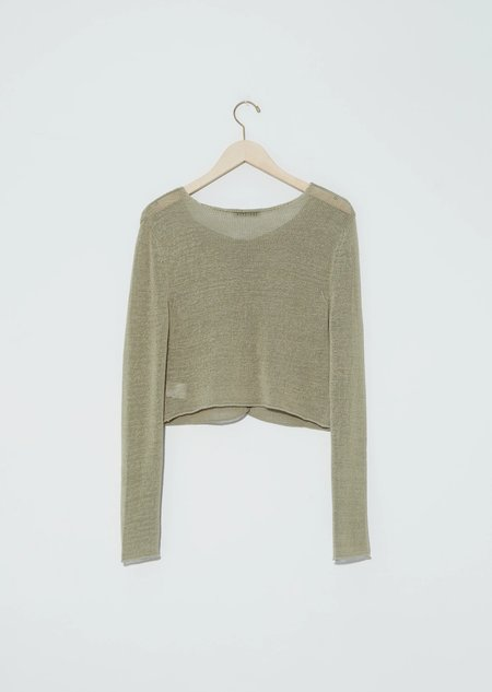 AMOMENTO Natural Linen Pullover - Olive
