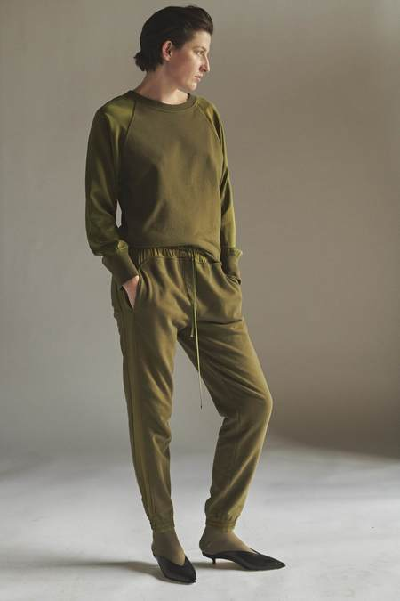 KES Terry Wave Set Sweatshirt and Sweatpants - Military