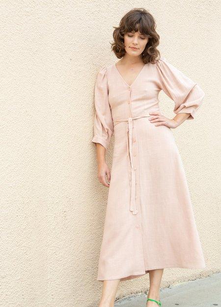 Rachel Pally Linen Agnes Dress - Pink