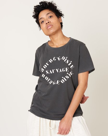 Unisex Clare V. Bourgeoisie Sauvage Tee - Faded Black