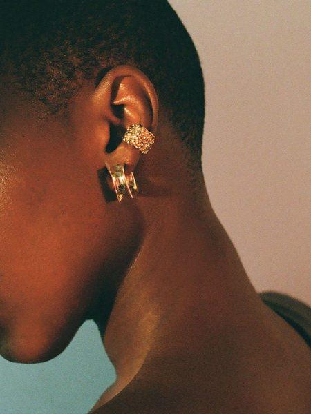 FARIS Faris Roca Ear Cuff Thick earrings - Bronze