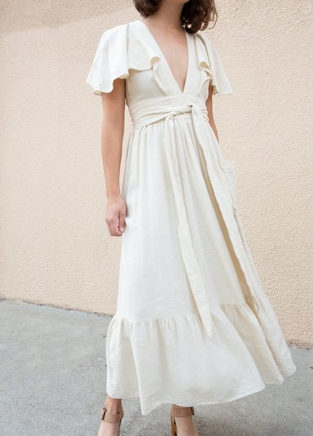 Vintage Doen Wrap Dress - Cream