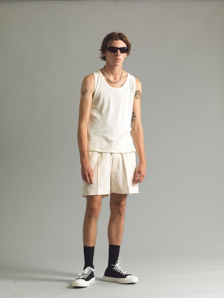 SECOND/LAYER Antique Ribbed Tank - White