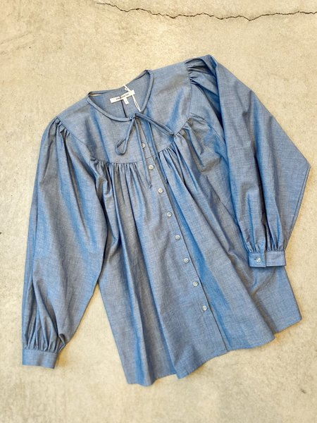 Emerson Fry Poet Blouse - Chambray